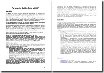 Partenariat public-privé et DSP