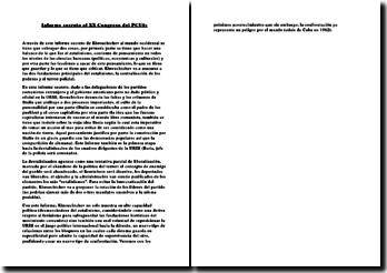 Informe secreto al XX Congreso del PCUS