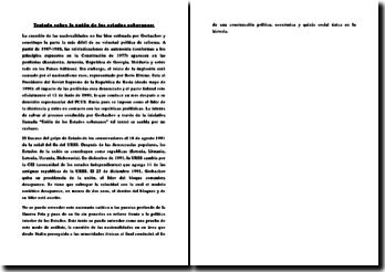 Tratado sobre la unión de los estados soberanos