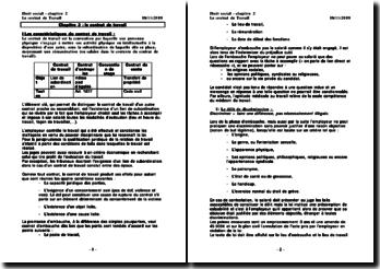 Généralités sur le contrat de travail