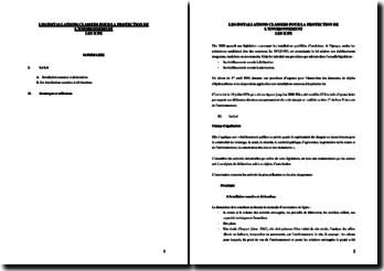 Les installations classées pour la protection de l'environnement : les ICPE