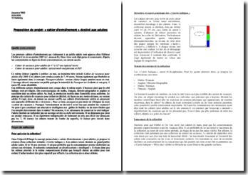 Proposition de projet: « cahier d'entraînement » destiné aux adultes