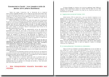 Commentaire d'arrêt de la 1ere chambre civile 28 Janvier 2010 : affaire Distilbène