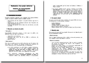 Réalisation d'un projet éditorial : création de l'encyclopédie Touvutoulu