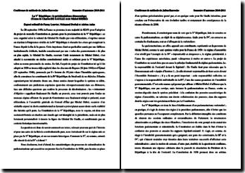 Le projet constitutionnel de la Ve République