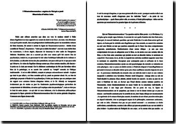 L'héautontimorouménos : image du moi qui se punit
