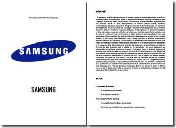 Analyse de la stratégie et du management chez Samsung (2010)