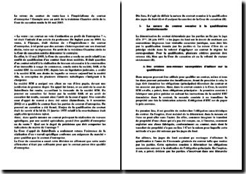 Le retour du contrat de vente face à l'impérialisme du contrat d'entreprise ? Exemple avec un arrêt de la troisième Chambre civile de la Cour de cassation rendu le 11 mai 2005.