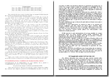 Commentaires Cass. Ass. Plén, 1er décembre 1995 n 93-13.688, Cass. Ass. Plén, 1er décembre 1995 n 91-19.653, Cass. Ass. Plén, 1er décembre 1995 n 91-15.999