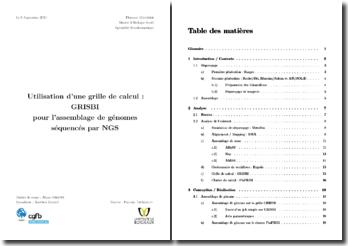 Utilisation d'une grille de calcul : GRISBI pour l'assemblage de génomes séquencés par NGS