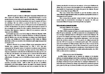 Le règne d'Henri IV selon Michel de Marolles