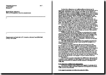 Commentaire de l'arrêt de la 3ème chambre civile du 5 mai 2008, Bull n 79, n 07-11.690