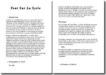 Descriptif de la Syrie