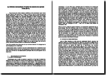 La réforme monastique d'après les canons du synode d'Aix (817).