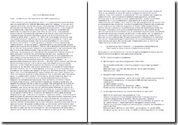 Dissertation - la Réforme de l'Administration