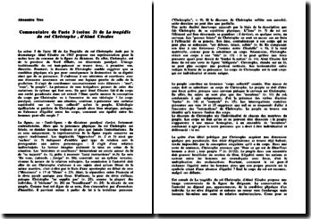 Commentaire de l'acte 3 (scène 3) de La tragédie du roi Christophe, d'Aimé Césaire