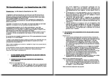 Dissertation : Le Roi dans la Constitution de 1791