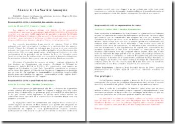 La Société Anonyme: extraits d'Aspects juridiques du capitalisme moderne, Chapitre II, L'ère des Sociétés par Action, G. Ripert, 1951