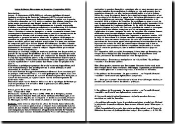 Lettre de Gustav Stresemann au Kronprinz (7 septembre 1925)