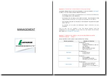 Analyse du management du groupe Lafarge au Maroc