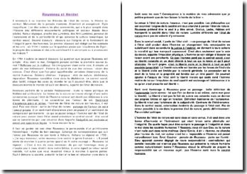 Comparaison entre Rousseau et Herder en matière d'idées politiques
