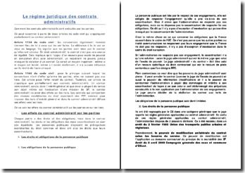 Le régime juridique des contrats administratifs