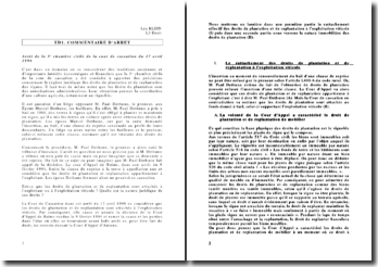 Commentaire d'arret de la 3e chambre civile de la cour de cassation du 17 avril 1996