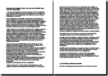 Commentaire Comparé: Cass. 1ere Civ, 24 mai 2005; Cass. 1ere Civ, 4 juin 2009
