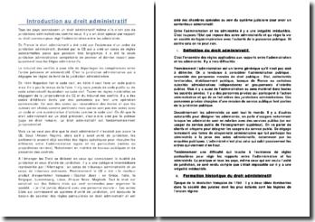 Introduction au droit administratif, du code Napoléon à nos jours
