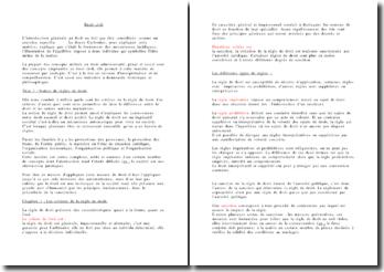 Introduction générale au droit civil - critères et normes, les classifications et hierarchies