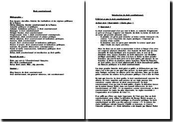 Introduction de droit constitutionnel