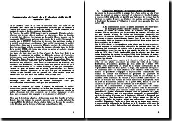 Commentaire de l'arret 3e chambre civile du 28 novembre 2001