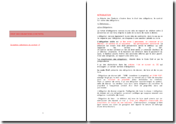 Droit des obligations: le caractère volontaire du contrat
