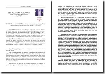 Les relations publiques, Lionel Chouchan, Jean François Flahault
