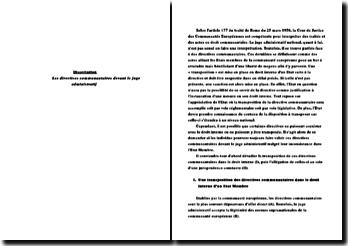 Les directives communautaires devant le juge administratif