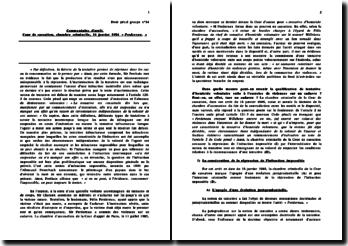Commentaire d'arrêt : Cour de cassation, chambre criminelle, 16 janvier 1986 « Perdereau. » - Qualification de tentative d'homicide volontaire suite à l'exercice de violences sur un cadavre ?