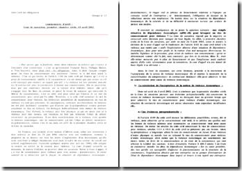Commentaire d'arrêt : Cour de cassation, première chambre civile, 03 avril 2002 - Un vice de consentement: la violence