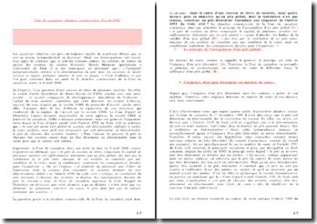Cour de cassation, chambre commerciale, 8 avril 2008 - Dans quelle mesure peut-on admettre qu'un prix global, dont la ventilation n'est pas connue, constitue un prix déterminé répondant aux exigences de l'article 1591 du Code civil ?
