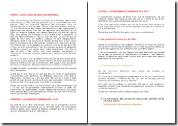 Le règlement des différends entre états en tant que sujets de droit international
