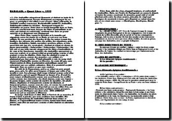 Rabelais, « Quart Livre », 1552