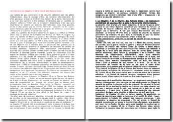 Commentaire du chapitre VII de la Charte des Nations Unies
