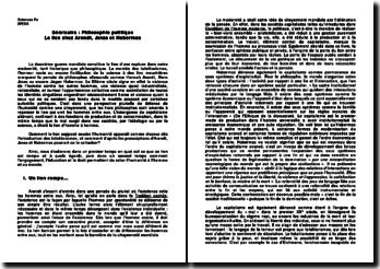 Le lien chez Arendt, Jonas et Habermas