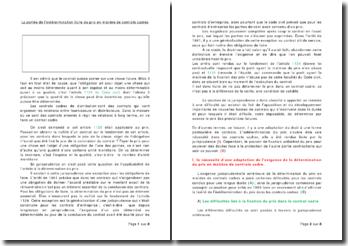 La portée de l'indétermination licite du prix en matière de contrats cadres