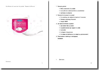 Cas d'échec de lancement de produit : Essensis de Danone