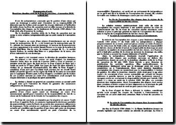 Commentaire de l'arrêt de la deuxième chambre civile de la Cour de cassation du 4 novembre 2010 n.09-65.947