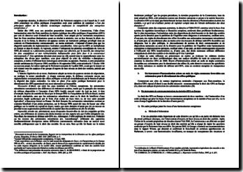 La directive européenne concernant les offres publiques d'acquisition