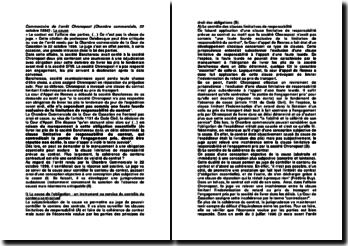 Commentaire de l'arrêt Chronopost (Chambre commerciale, 22 octobre 1996) : La cause