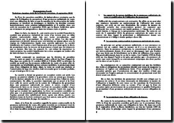 Commentaire d'arrêt Troisième chambre civile de la Cour de cassation - 8 septembre 2010