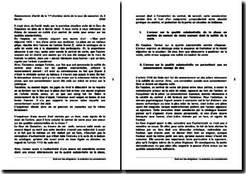 Commentaire d'arrêt de la 1ère chambre civile de la cour de cassation du 5 février 2002