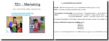 TD Marketing - Le Marché des Lessives